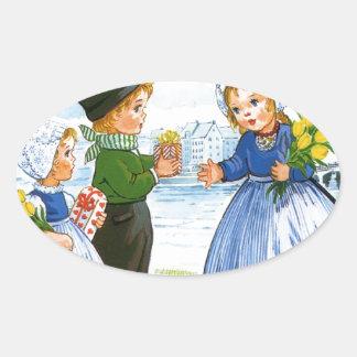 Dutch Children Oval Sticker