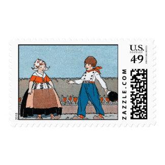 Dutch Children Stamp