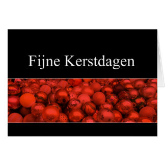 Dutch Christmas Card - Fijne Kerstdagen