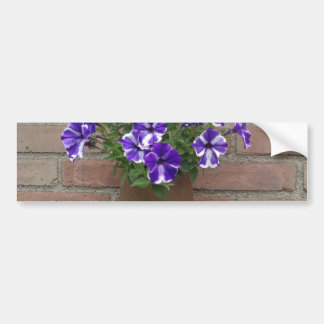 Dutch Clog with Purple Blue White Violet on Wall Bumper Sticker