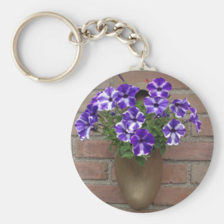 Dutch Clog with Purple Blue White Violet on Wall Keychain