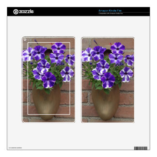 Dutch Clog with Purple Blue White Violet on Wall Kindle Fire Skin