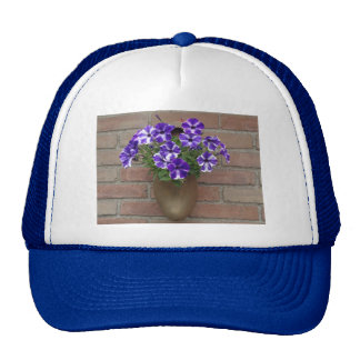 Dutch Clog with Purple Blue White Violet on Wall Trucker Hat