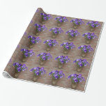 Dutch Clog with Purple Blue White Violet on Wall Wrapping Paper