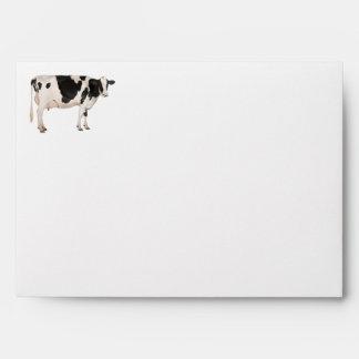 Dutch cow cutout envelope