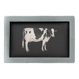 Dutch cow cutout rectangular belt buckle