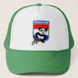 Trucker Hat with Dutch Cycling Panda design