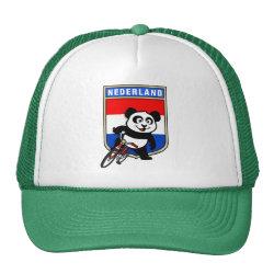 Trucker Hat with Dutch Cycling Panda design