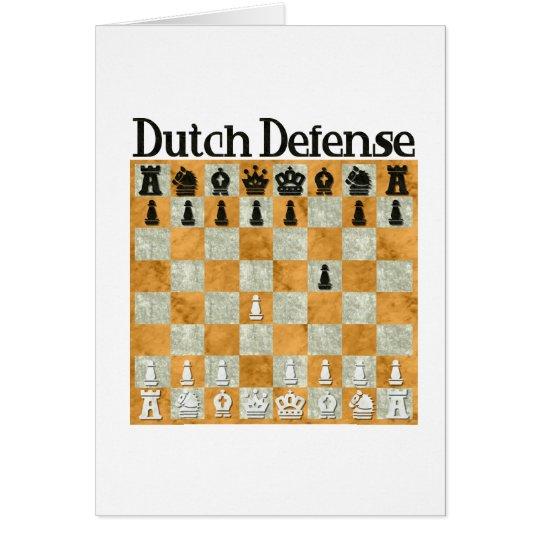 Dutch Defense Card