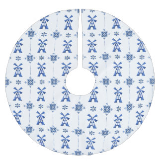 Dutch Delft Blue Pattern Tree Skirt