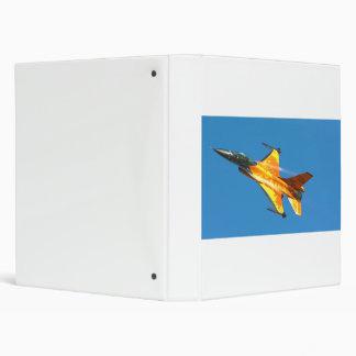 Dutch F-16 Fighting Falcon Jet Airplane Binder