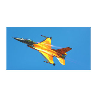 Dutch F-16 Fighting Falcon Jet Airplane Canvas Print