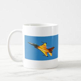 Dutch F-16 Fighting Falcon Jet Airplane Classic White Coffee Mug
