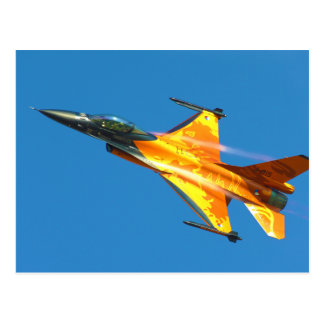 Dutch F-16 Fighting Falcon Jet Airplane Post Cards
