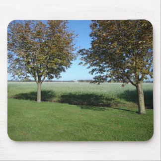 dutch farmfield in the early autumnsun mouse pad