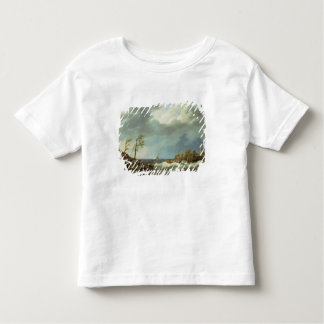 Dutch Fishing Vessel Caught on a Lee Shore with Vi Toddler T-shirt