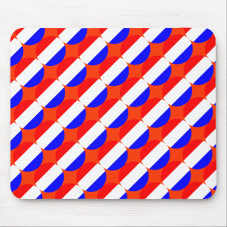 Dutch flag around pattern mouse pad