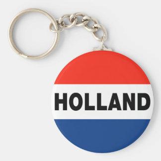 Dutch Flag Basic Round Button Keychain