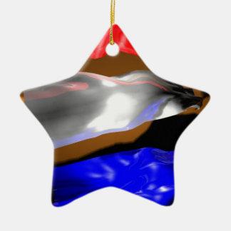 Dutch Flag Ceramic Ornament