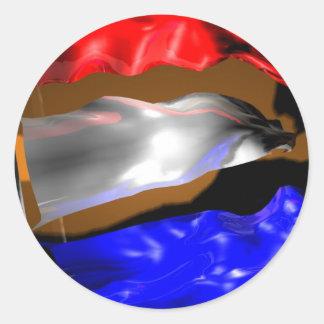 Dutch Flag Classic Round Sticker