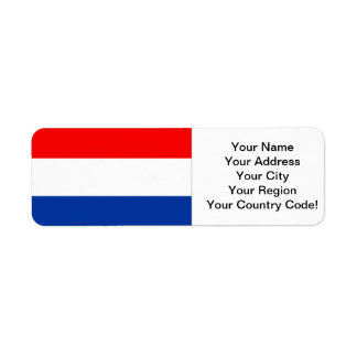 Dutch Flag Label