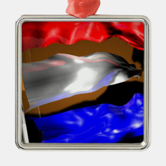 Dutch Flag Metal Ornament