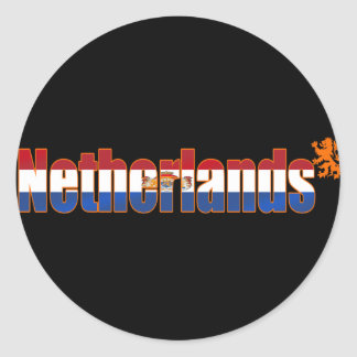 Dutch flag of the Netherlands Logo Tees & Gifts Classic Round Sticker