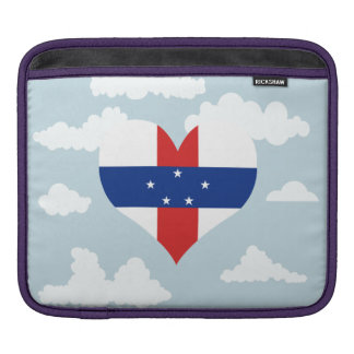 Dutch Flag on a cloudy background Sleeves For iPads