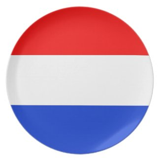 Dutch Flag Party Plates