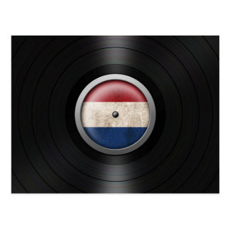 Dutch Flag Vinyl Record Album Graphic Postcard