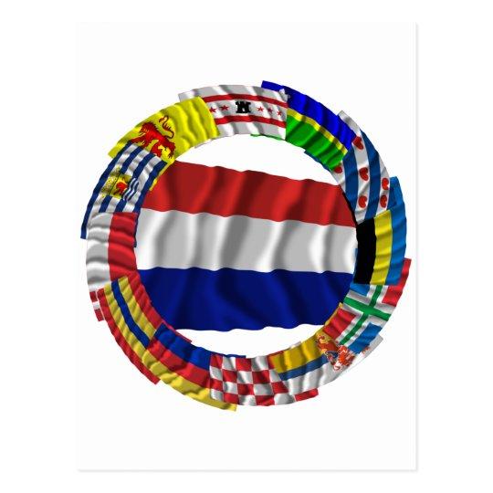 Dutch Flags Ring Postcard