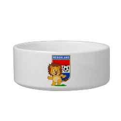 Cat Food Bowl with Dutch Voetbal Lion / Leeuw design
