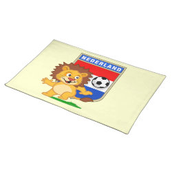 Placemat 20' x 14' with Dutch Voetbal Lion / Leeuw design