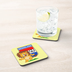 Dutch Voetbal Lion / Leeuw Beverage Coaster