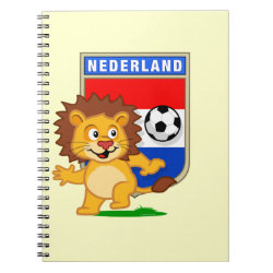 Photo Notebook (6.5' x 8.75', 80 Pages B&W) with Dutch Voetbal Lion / Leeuw design