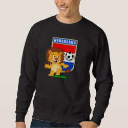 Men's Basic Sweatshirt with Dutch Voetbal Lion / Leeuw design