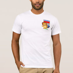 Men's Basic American Apparel T-Shirt with Dutch Voetbal Lion / Leeuw design