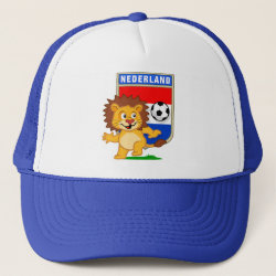 Trucker Hat with Dutch Voetbal Lion / Leeuw design