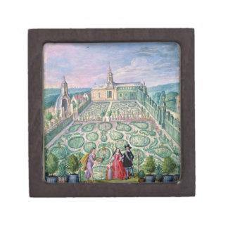Dutch Garden, 1650 (w/c on paper) Jewelry Box