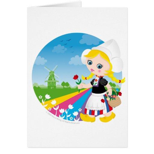 Dutch girl greeting cards