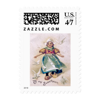 Dutch Girl Clogs Dove Postage