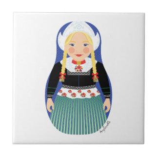 Dutch Girl Matryoshka Tile