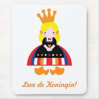 Dutch girl on Queen's Day Mouse Pad