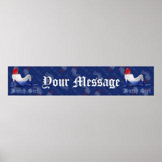 Dutch Girl Silhouette Flag Banner Poster