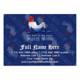 Dutch Girl Silhouette Flag Business Cards