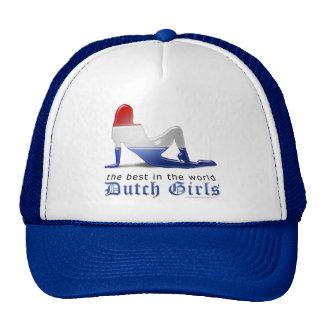 Dutch Girl Silhouette Flag Mesh Hats