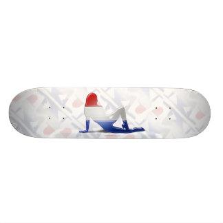 Dutch Girl Silhouette Flag Skate Deck