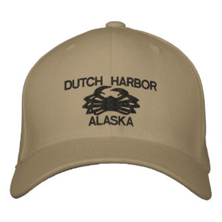 Dutch Harbor Alaska King Crab Embroidered Hat