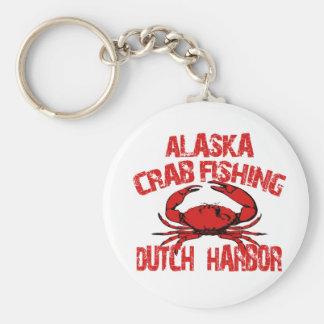 Dutch Harbor Alaska Red Crab Fishing Keychain