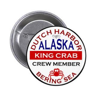 Dutch Harbor Alaskan King Crab Crew Member 2 Inch Round Button
